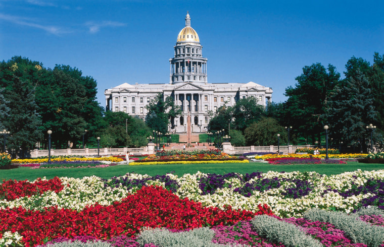 The dome of the Colorado State Capitol is covered with nearly 200 ounces of gold. The 15th step on the west side of the building is exactly one mile above sea level.