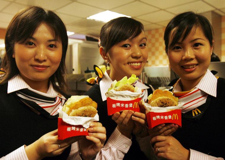McDonald's staffs