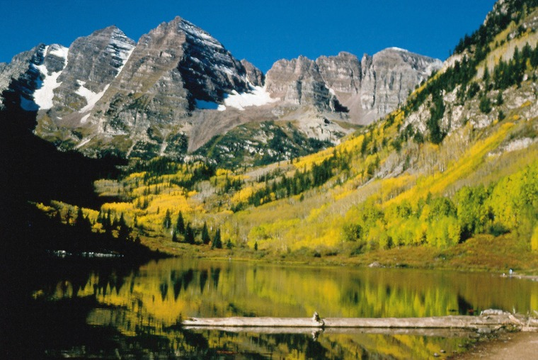 Called the Maroon Bells, this range of snowcapped peaks near Aspen is one of the most photographed spots in Colorado, but there is no shortage of scenery throughout the state. Colorado has more than 1,000 peaks that are over two miles high.