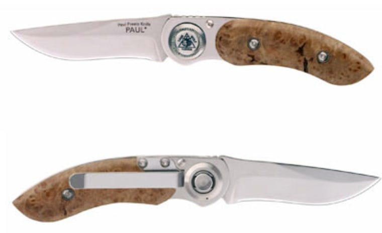 A Lone Wolf Paul Presto pocketknife runs about $150, but might impress Dad much more than tube socks.