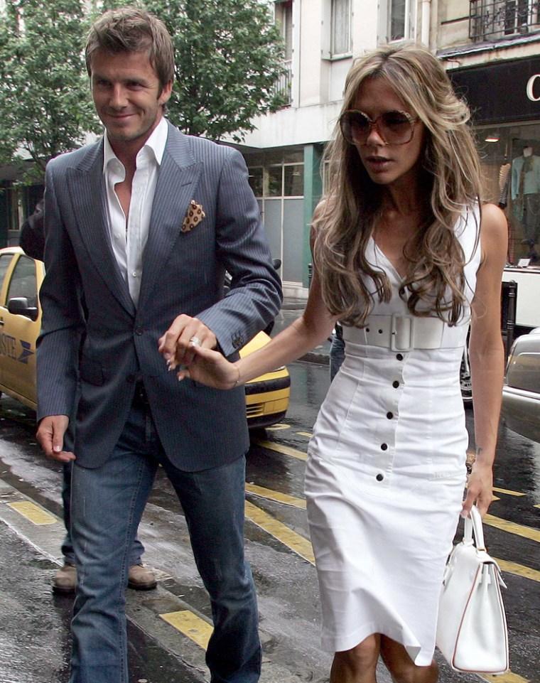 PARIS: David and Victoria Beckham on shopping day