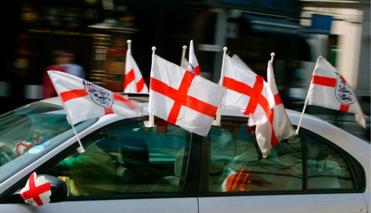 ENGLAND CAR FLAGS