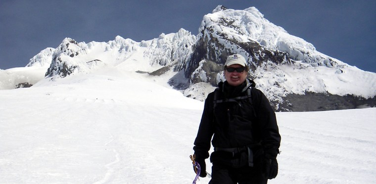 Mike Stuckey recently conquered Oregon's Mount Hood. His next challenge is prostate cancer.