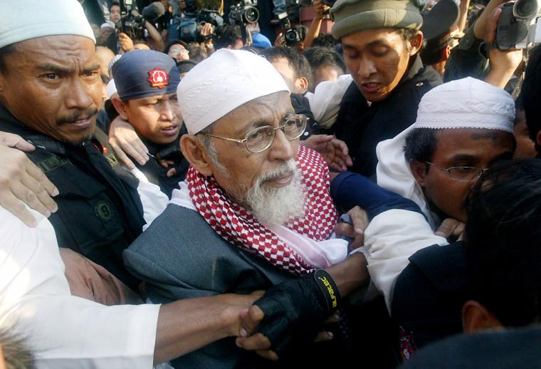 Indonesian Muslim cleric Abu Bakar Bashir leaves prison in Jakarta