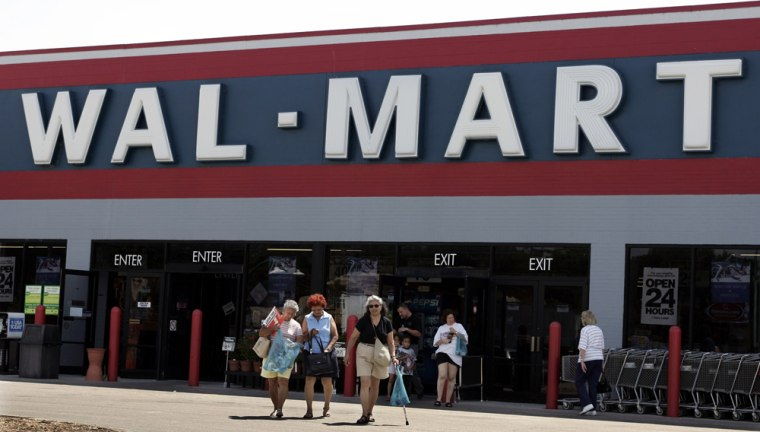 File photo of shoppers at a Wal-Mart store in Casselberry
