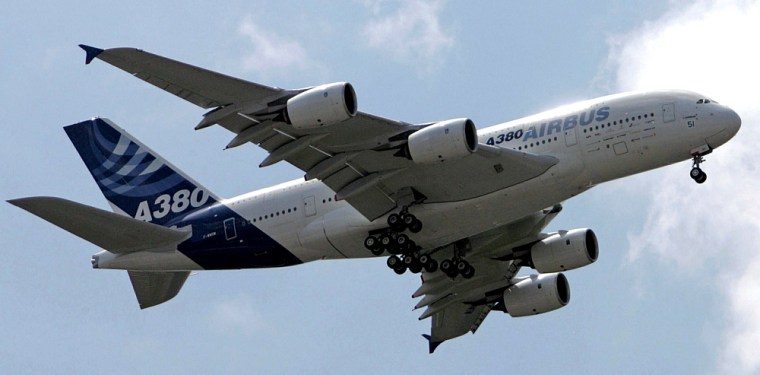 File photo of Airbus A380 performing a test flight over the Paris Air Show in Le Bourget
