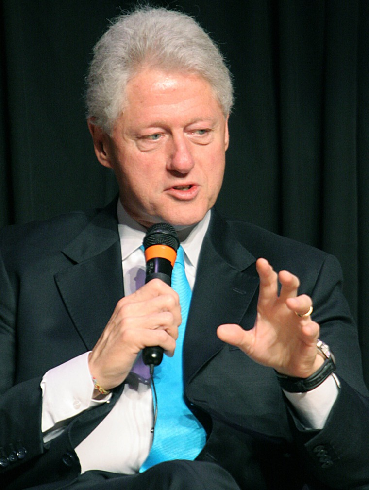 Former US President Bill Clinton answers