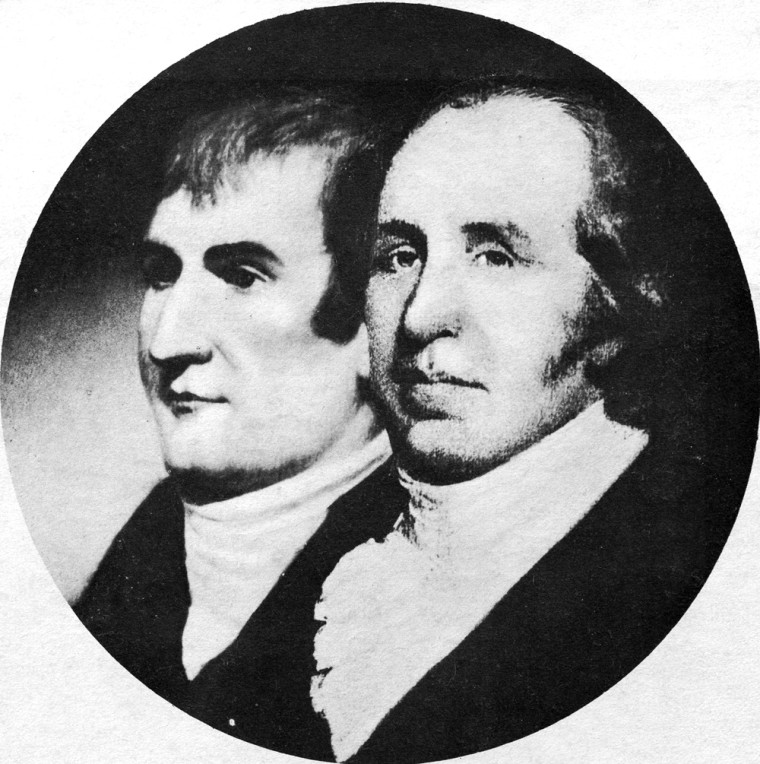 Meriwether Lewis, left, and William Clark, in an undated photo.