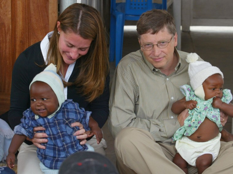 File photo of Bill Gates and his wife in Mozambique