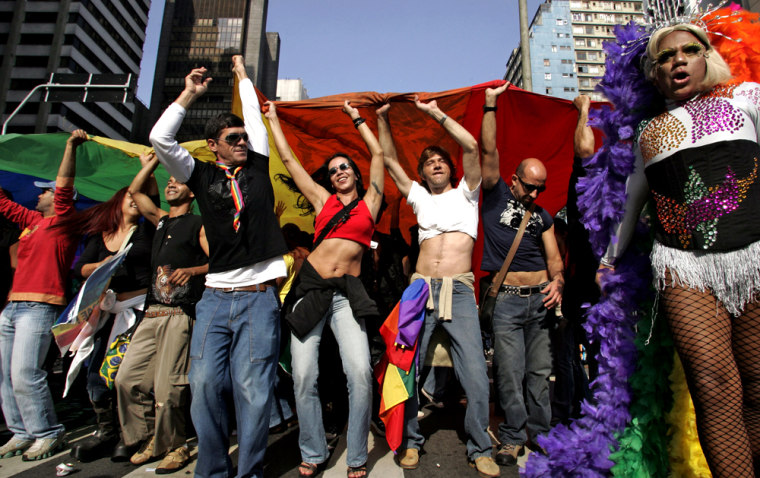 Revellers participate of the Gay Parade