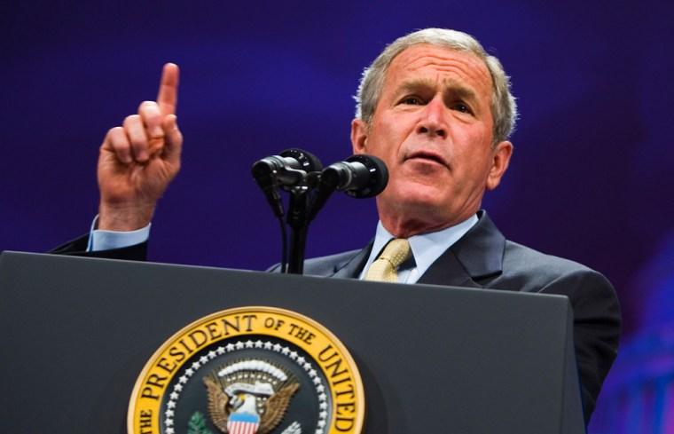 US President George W. Bush addresses th