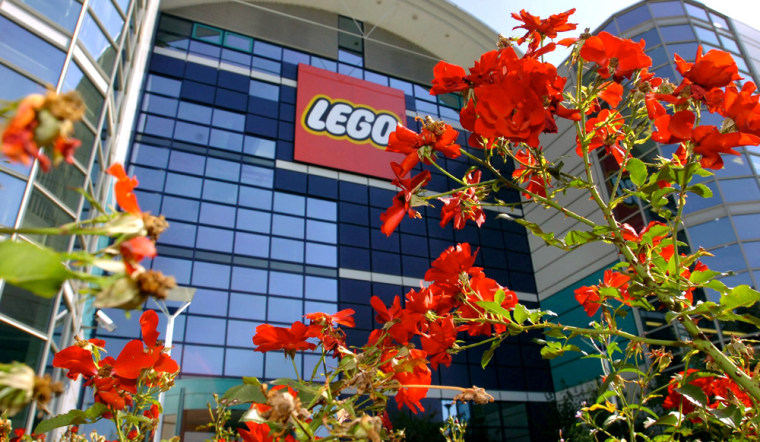 Lego Group said Tuesday it will lay off 300 people at a U.S. facility and 900 in Denmark. Shown here is a Swiss production plant.