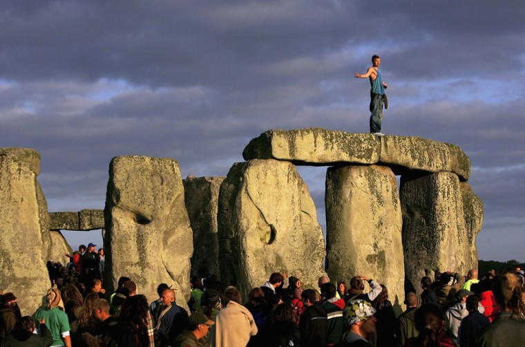 Druids Meet At Stonehenge For The Summer Solstice