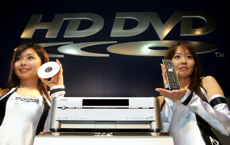 Japanese electronics maker Toshiba Corp. unveils world's first HD DVD recorder RD-A1 in Tokyo