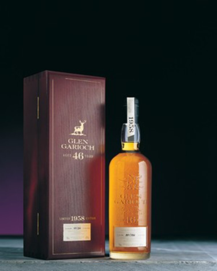Glen Garioch, 1958, will cost you $2,600—if you can find it. Only 328 bottles were released.