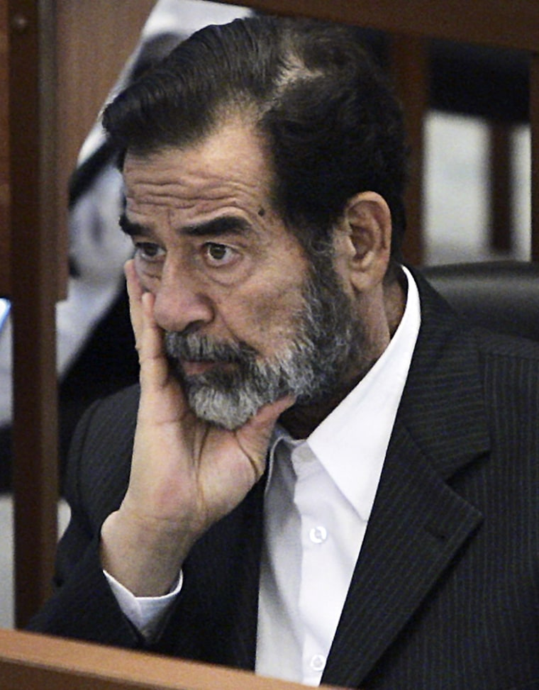 Trial Of Saddam Hussein Continues