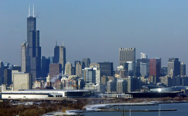 Chicago's Sears Tower, the tallest high rise in this skyline view, was the focus of a plot by extremists who thought they were working with al-Qaida, officials said Friday.