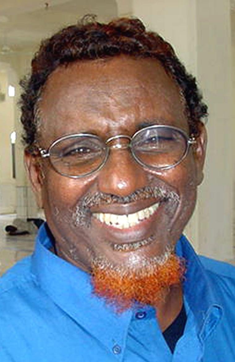 Somalia fundamentalist leader Sheikh Hassan Dahir Aweys in northern Mogadishu, in 2005.