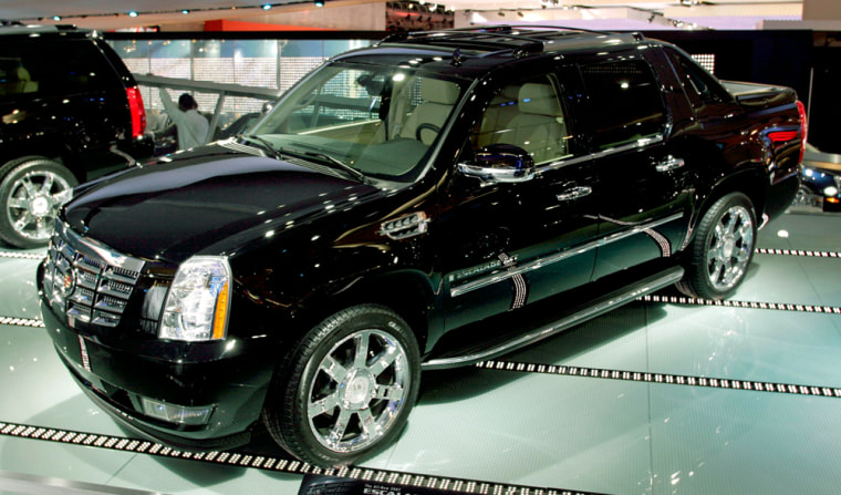 The 2007 Cadillac Escalade EXT makes its world debut on the show floor at the North American International Auto Show in Detroit