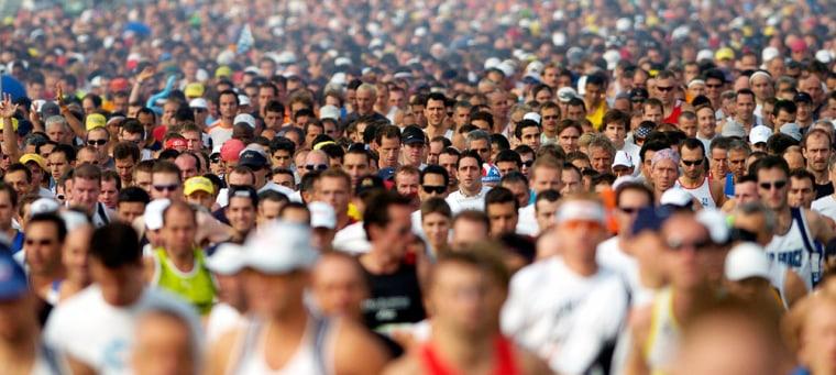 Runners start the New York City Marathon