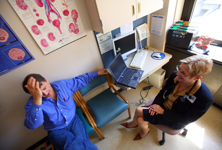 Author and prostate cancer patient Mike Stuckey gets the lowdown on his treatment options from Dr. Ksenija Stefanovic, a urologist at Seattle's Virginia Mason Medical Center.