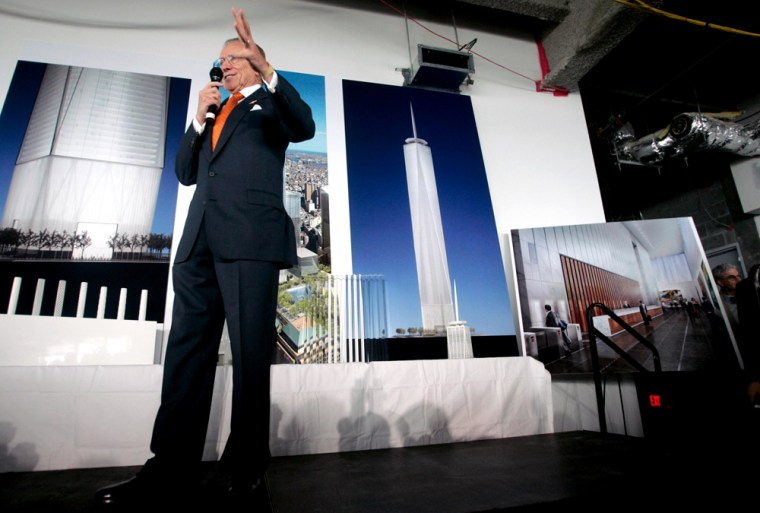 Real estate developer Larry Silverstein talks about refinements to the design of the Freedom Tower in New York