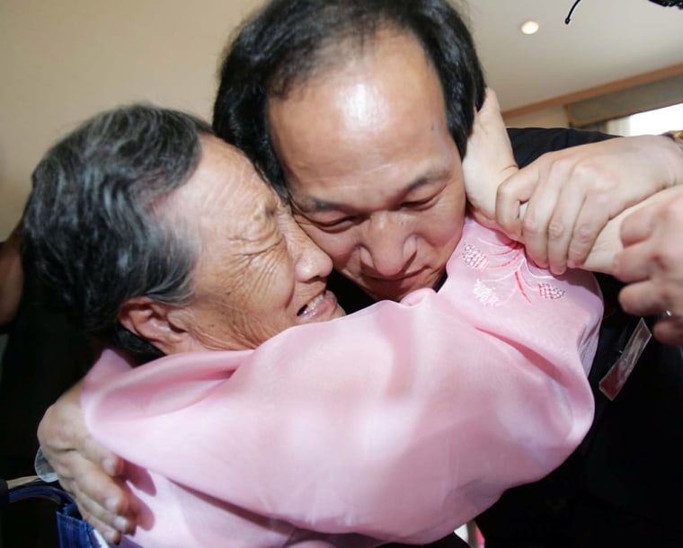 South And North Koreans Stage Family Reunion