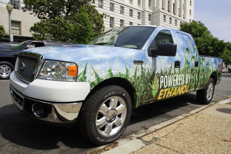 Ford's efforts to boost ethanol include showing this Ford 150 pickup truck to lawmakers at the U.S. Capitol last month.