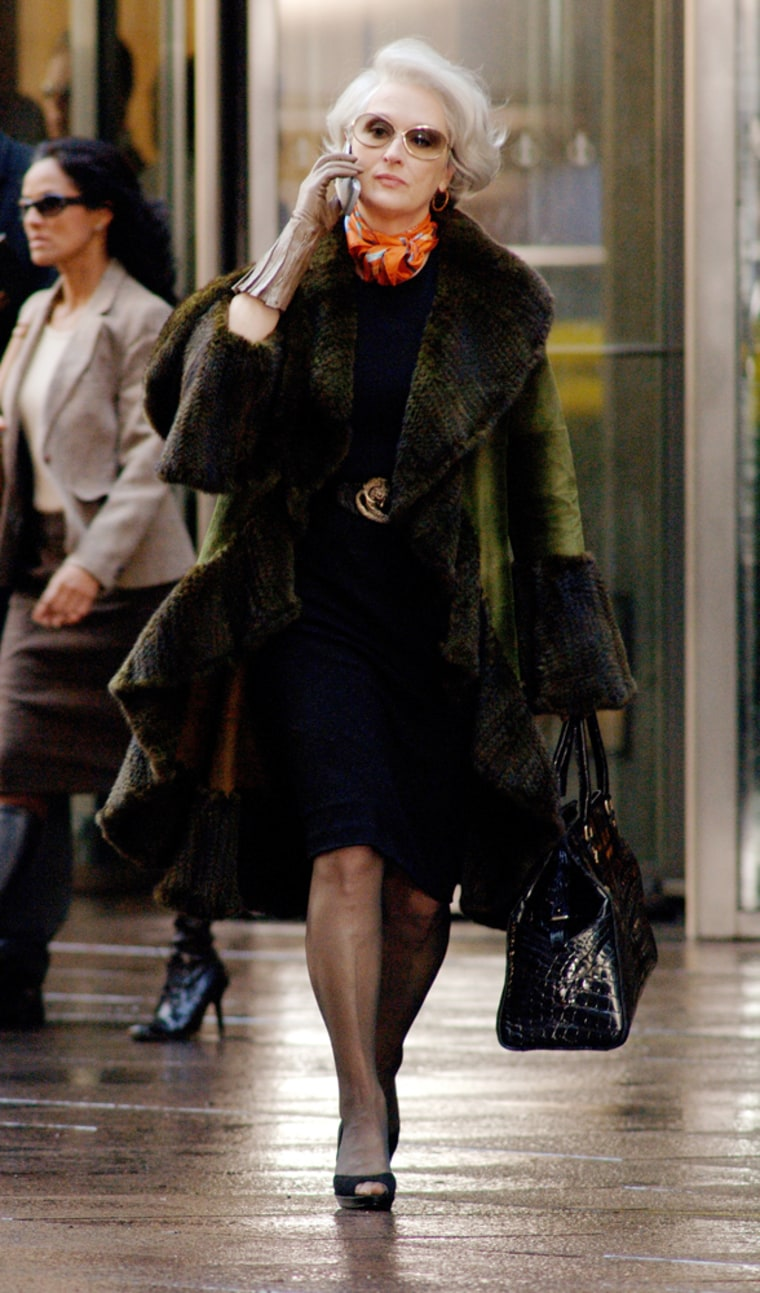 Meryl Streep, who plays magazine editor Miranda Priestly in 'The Devil Wears Prada,' improvised a line about News Corp. Chairman Rupert Murdoch, according to the film's director.