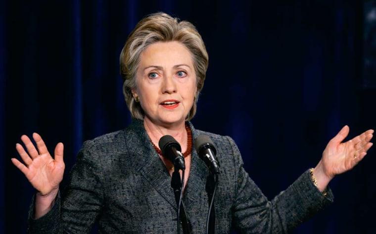 Sen. Hillary Rodham Clinton, D-N.Y., addresses the New Democratic Network in Washingtonon June 23.