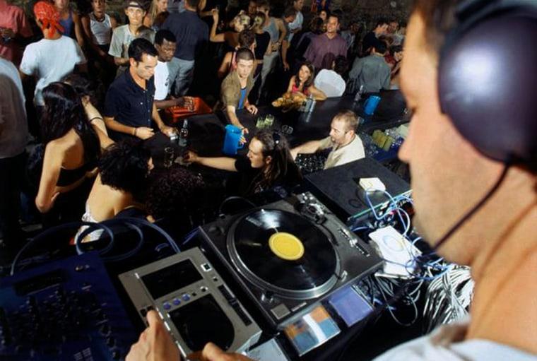 Socializing at Nightclub