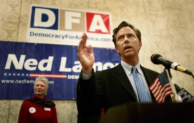 Senate Candidate Ned Lamont Attends Endorsement Rally
