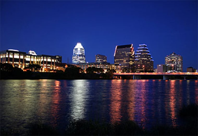 Austin, Texas, with a metro population of 1.2 million is one smart city. It boasts the best weather in Texas—sunny and dry. Hills and lakes break up the monotony that plagues rival Dallas. Discovered as Hip Town, U.S.A., in the late 1990s, some say this center for musicians and artists beats Seattle.