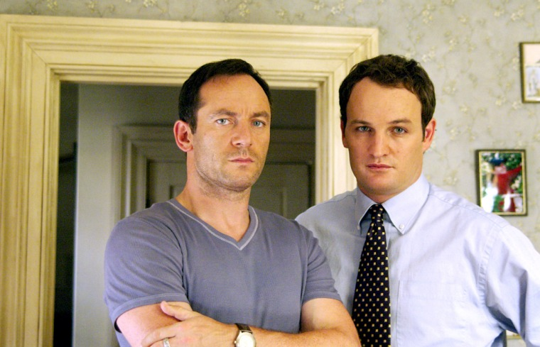 Jason Isaacs, left, and Jason Clarke star as Irish-American brothers in the new Showtime dramatic series 'Brotherhood.'
