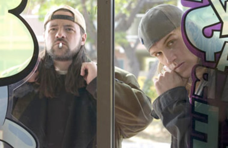 Kevin Smith and Jason Mewes in The Weinstein Company's Clerks II - 2006