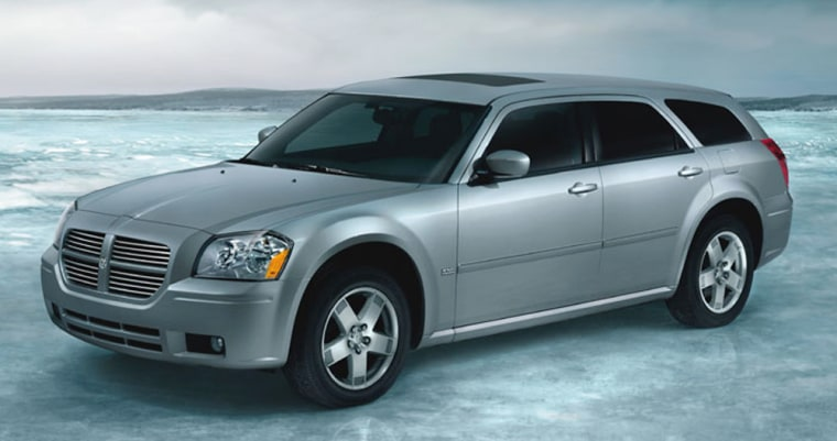In a vehicle category where buyers often have practicality in mind, you can't ignore theDodge Magnum SRT8,a wagon with a 6.1-liter, 425 horsepower V8 capable of getting to 60 in under 6 seconds.