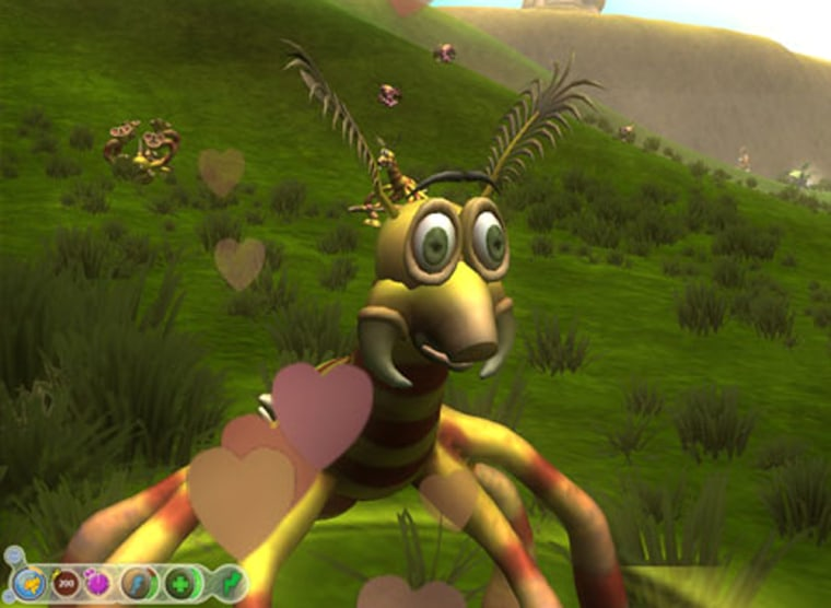 Screenshot from Electronic Arts' highly anticipated Spore game. The irreverent game, from Sims creator Will Wright, lets players guide a species through evolution.