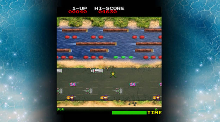 A screenshot from Frogger, a popular 1980s-era game that Microsoft hopes will appeal to a modern game audience.