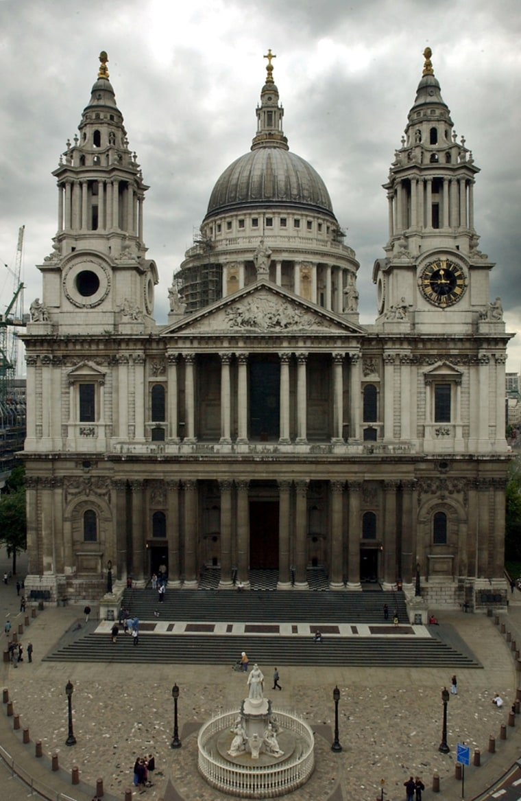 The West Front of St Paul's Cathedral in London.
