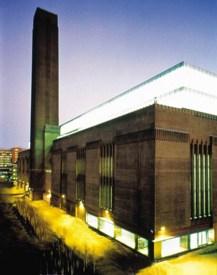 The Tate Modern in London. The building, designed by architects Herzog & de Meuron, is one example of the way art museums are taking on new and dynamic looks as communities once again seek signature looks for their institutions.