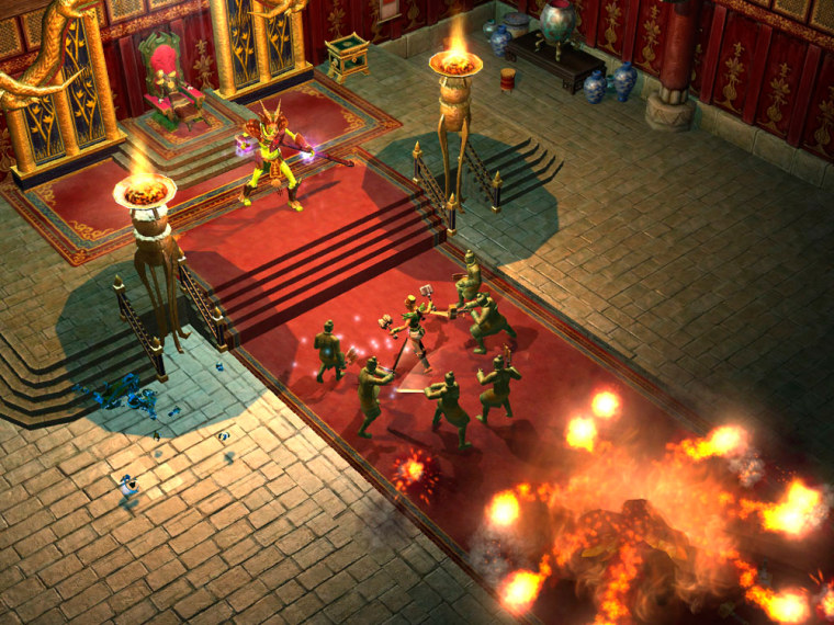 In Titan Questyou play as a human whohas the job of setting the world right after Titans escape the underworld.