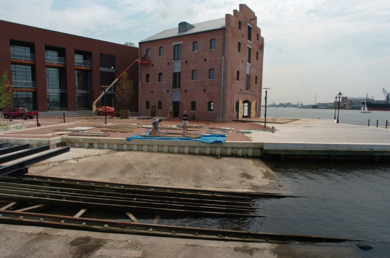 The new Frederick Douglas-Isaac Myers Maritime Park, the nation's first black shipyard, complete with marine railway.