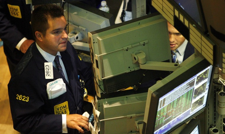 Stocks took off Wednesday after Federal Reserve Chairman Ben Bernanke said economic growth appears to be moderating.