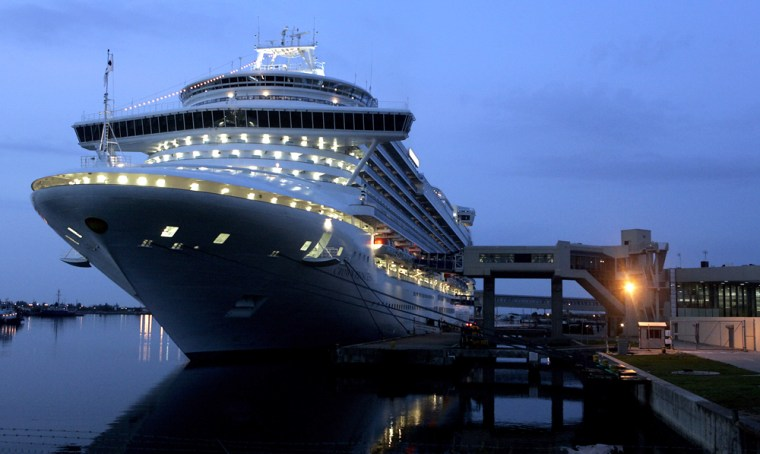 The cruise ship Crown Princess docked in Cape Canaveral, Fla.