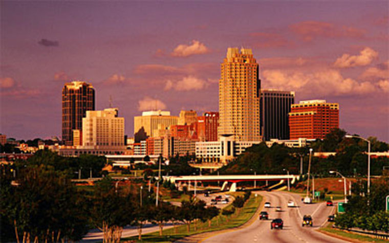 With its good weather, cheap housing and beautiful golf courses, Raleigh, North Carolina, has been attracting a lot of tech business.