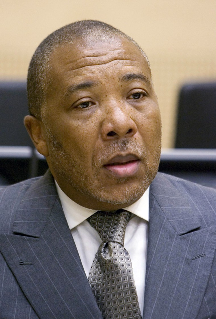 Former Liberian president Taylor makes first appearance at courtroom at The Hague