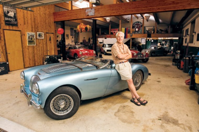 Monster garage: Lawyer Bob Wade spent $275,000 to build a 2,400-square-foot space to store his classic cars at his home in eastern Pennsylvania.