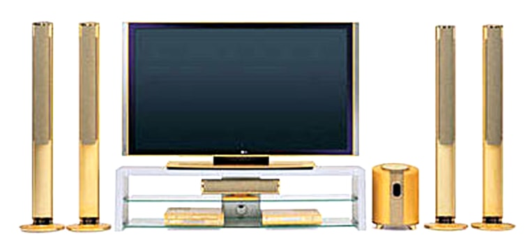 LG's high-definition television offers a 71-inch screen. And if you really want bragging rights, go ahead and plunk down another $40,000 for the deluxe model, which features 4 pounds of 24-karat gold coat.