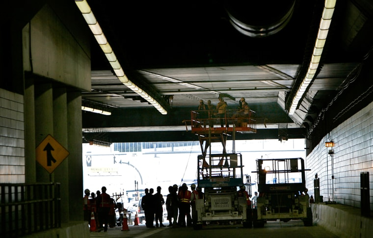Big Dig tunnels were closed for several days for inspections and repairs after ceiling panels fell, killing 38-year-old Milena Del Valle as she and her husband drove through the tunnel July 10 on their way to the airport.