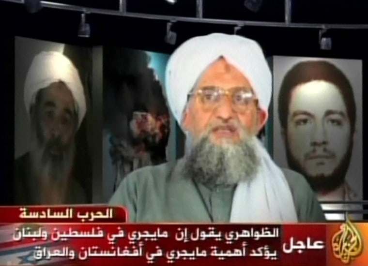 Ayman al-Zawahri, considered Al-Qaida's No. 2, weighed in on the conflict in Israel and Lebanon in a message aired Thursday.